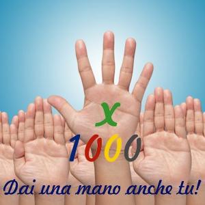 Dai una mano anche tu: donaci il tuo 5 x 1000!