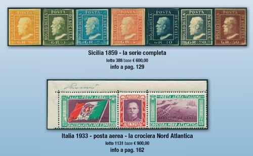 Serie francobolli messi all'asta il cui ricavato sarà donato alla Onlus