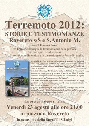 Terremoto 2012: volantino