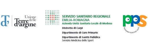 Camminiamo insieme: realizzato con il patrocinio di Terre d'Argine, Azienda sanitaria locale e PPS
